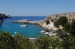 Schacht Str.-Pauls, Rhodos, Griechenland Lizenzfreies Stockbild