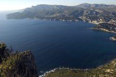 Schacht von Cassis, französischer Riviera Stockfotos