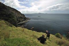 Schacht von Inseln, Neuseeland lizenzfreies stockfoto