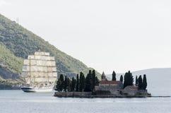 Schacht von Kotor, Montenegro Lizenzfreies Stockbild
