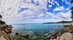 Schacht von tropischem Meer Stockbild