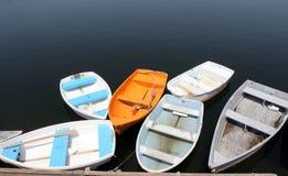 Schachtboote Stockbild