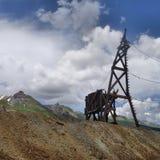 Schachtturm Guston-Bergwerkes Lizenzfreie Stockfotos