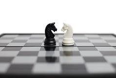 Schachvorstand mit Abbildungen Lizenzfreies Stockfoto