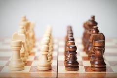 Schachvorstand mit Abbildungen Stockbilder