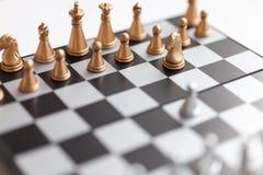 Schachvorstand mit Abbildungen Stockbild