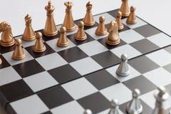 Schachvorstand mit Abbildungen Stockfotos