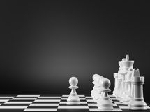 Schachvorstand mit weißem Hintergrund Der erste Jobstepp vektor abbildung