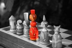 Schachzahlen auf dem Brett lizenzfreie stockfotos