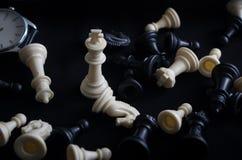 Schack är inte precis en lek arkivfoto