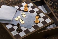 Schack & domino arkivfoton