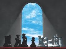 Schack ett medeltida fönster Royaltyfri Fotografi