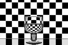 Schack i ett exponeringsglas Royaltyfria Bilder