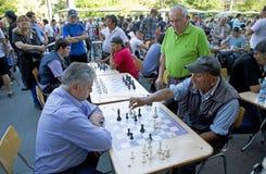 Schack i Plaza de Armas, Santiago, Chile Royaltyfria Foton