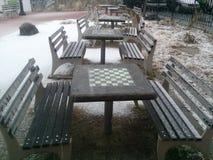 Schack i vinter Arkivfoto