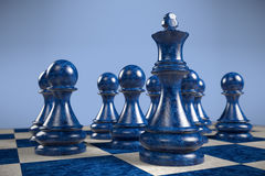 Schack: ledare arkivbild