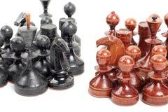 Schack på vit Arkivbild