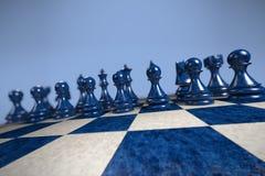 Schack: readyForBattle royaltyfri fotografi