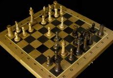 schack Schackbr?de p? en svart bakgrund fotografering för bildbyråer