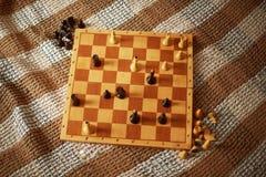 schack Segerbegrepp Royaltyfri Fotografi