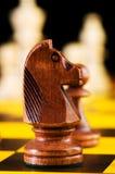 Schackbegrepp med stycken Royaltyfria Bilder
