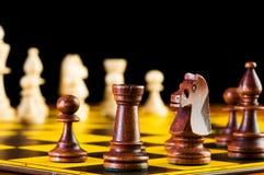 Schackbegrepp med stycken Arkivbilder