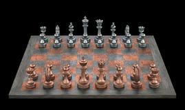 schackbräde Arkivfoto