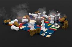 Schackbräde Europa Royaltyfri Bild