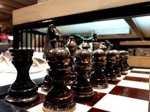 Schackbräde för dekor arkivbild