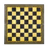 schackbräde isolerat vitt trä för objekt Fotografering för Bildbyråer