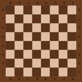 Schackbräde med bokstäver en bästa sikt Arkivfoto