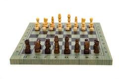 Schackbräde med schackstycken Royaltyfri Fotografi