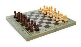 Schackbräde med schackstycken Fotografering för Bildbyråer
