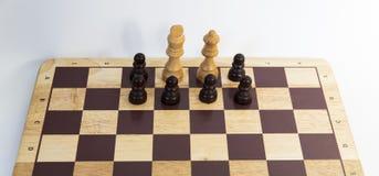 Schackbräde - motståndsbegrepp Fotografering för Bildbyråer