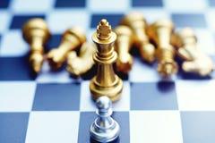 Schackbrädelek, konkurrenskraftigt begrepp för affär, kopieringsutrymme arkivfoto