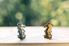 Schackbrädelek, konkurrenskraftigt begrepp för affär fotografering för bildbyråer