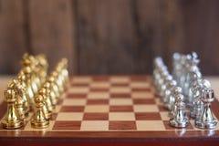 Schackbr?delek, konkurrenskraftigt begrepp f?r aff?r, kopieringsutrymme arkivbilder