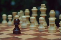 Schackbr?delek, konkurrenskraftigt begrepp f?r aff?r arkivbilder