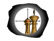 schackcrosshairdiagram Royaltyfria Bilder