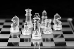 Schackdiagram, affärsidéstrategi, ledarskap, lag och su Royaltyfria Foton