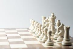 Schackdiagram, affärsidéstrategi, ledarskap, lag och su Royaltyfri Fotografi