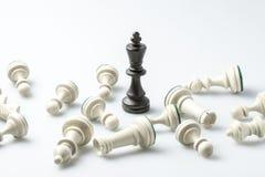Schackdiagram, affärsidéstrategi, ledarskap, lag och su Royaltyfria Bilder