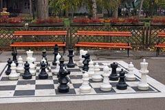 Schackdiagram parkerar in Royaltyfria Foton