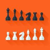 Schackdiagram ställde in i plan modern stil för designbegrepp Royaltyfria Foton