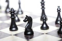 Schackdiagram - strategi och ledarskap Royaltyfri Bild