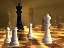 schackduell Royaltyfri Foto