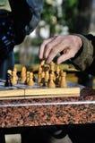 Schackduellen Royaltyfria Bilder