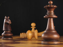 schackerövring för 2 bräde Arkivbild