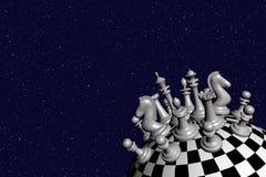 schacket 3d framför världen Royaltyfri Bild
