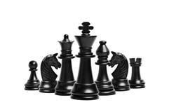 Schacket figurerar isolerat Royaltyfri Fotografi